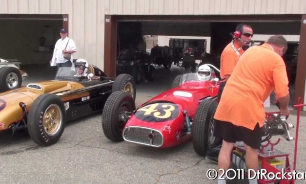 Vintage Racing – 1950s Indy Cars startup and race