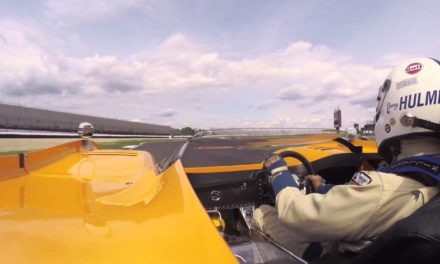 1971 McLaren M8F on board at the 2014 Brickyard Vintage Racing Invitational